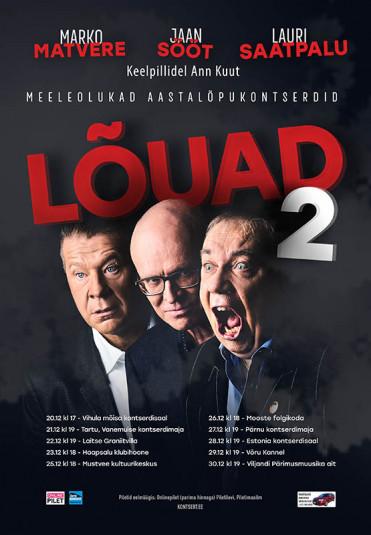 Lauri Saatpalu, Marko Matvere ja Jaan Sööt ''Lõuad 2''  Folgikojas